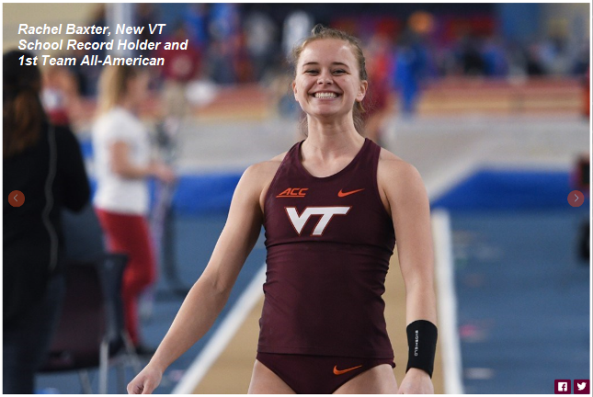 Rachel Baxter, New VT School Record Holder